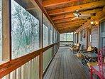 Screened-In Porch | Wicker Furniture | Ceiling Fan