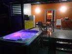 spa de nuit avant installation du petit deck