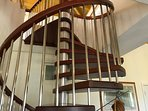 spiral staircase to 3rd floor loft