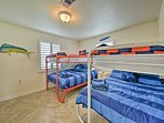 Bedroom 3 offers 2 twin-over-full bunk beds.