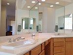 double sinks in master bath