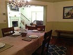 view of dining room towards great room