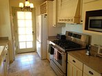 view of kitchen and professional gas stove