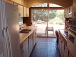 Kitchen with view to back yard