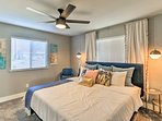 Catch up on your beauty sleep in the lavish master bedroom with a king-sized bed.