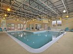 Start your day with some laps in the indoor pool.