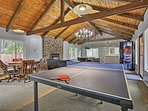 Challenge your companions to a friendly game of ping pong or pool!