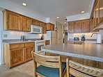 The fully equipped kitchen has everything you need to prepare a delicious home-cooked meal.