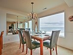An oceanfront view awaits you at this 2-bedroom, 2-bath vacation rental condo in Lincoln City!