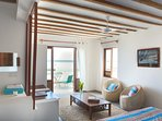 Bedroom 2 - Living room & view on the ocean