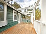 Breath the fresh mountain air from your private deck.