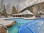 Take a dip in the pool no matter the season - as it's heated in the winter.