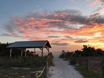 Beach access at end of street.  Beautiful Sunsets!!