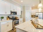 Beautiful custom cabinets and quartz countertops