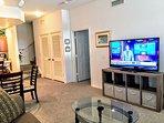 Large Flat screen tv on Livingroom