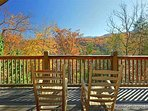 Upper Level Deck Rockers and View of Smoky Mountains at Precious View