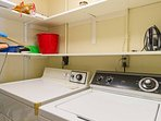 Should the need arise, there is a washer and dryer available in the laundry room.