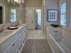 En-suite Bathroom with Dual Vanities, Separate Tub and Shower