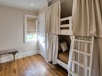 Third Floor Bedroom with Built-In Twin Bunks, A Second Set of Built-In Twin Bunks on Other Side of Landing