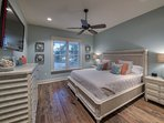 First floor spacious and bright king master suite with ensuite bathroom