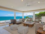 Ocean views (270 degrees) from the great room upstairs