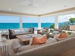 Ocean views from the upstairs living room