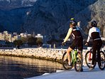 you can rent bikes (delivered at villa) and explore with or without guide
