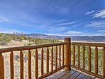 Enjoy morning coffee on the private deck.