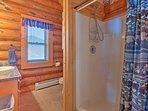The master loft en-suite offers a walk-in shower.