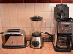 Toaster, Blender & Coffee Pot