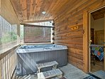 Soak aching muscles in the hot tub after long hikes.