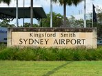 Sydney international and domestic airports are both only 15-20 mins on taxi or Uber.