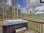 Soak aching muscles in the hot tub.