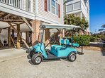 A golf cart is available for an additional per day fee.