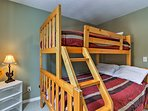 Kids will love the bunk room with a twin-over-full bunk bed!