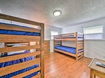 Kids will love the bunk room with 2 twin-over-twin bunk beds.