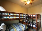 Bunk room with two double bunks, can sleep up to 8