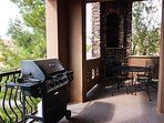 Private patio equipped with bbq and dining table