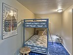 Kids will love sharing this bunk room.