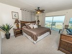 Elegant Master Bedroom with flatscreen TV & walkout to your Direct Oceanfront Balcony!