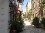 Pretty sideide street in Kalkan