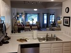 Awesome kitchen pass thru right to the dining room table.