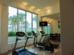 Fitness room with 42' TV