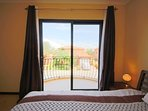 Balcony access in master bedroom