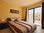 Second bedroom has a queen-size bed