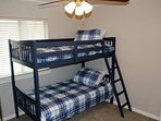 The third bedroom with bunk beds - the kids will love it!