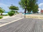 keep fit along the boardwalk.  Walk, run or swim.