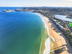 Aerial View of Wamberal / Terrigal and location of our house.