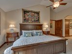 Tahoe Woods Penthouse - Master bedroom with King bed