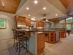 Angora Mountain Lodge  - Large Kitchen with Breakfast Bar